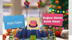Hediye paketli balonlu doğum günü kutlama