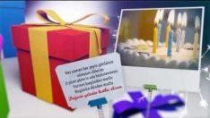 Hediye paketli Doğum Günü Kutlama Animasyonu