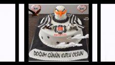 Kartallı Beşiktaş Pastalı Doğum Günü Kutlama