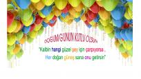 Balonlu Doğum Günü Kutlama Mesajı