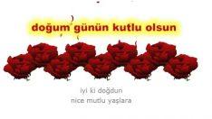 Kırmızı güllerle doğum günü kutlaması
