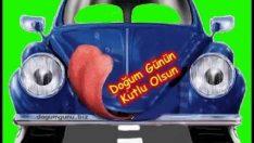Mavi Arabalı Hareketli Doğum Günü Kutlaması