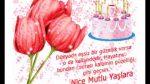 Güller ve pastalı doğum günü kutlaması