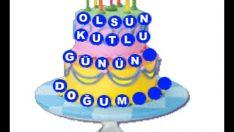 Pastanın üzerinde doğum günün kutlu olsun – d16