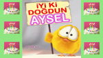 Doğum günün kutlu olsun AYSEL