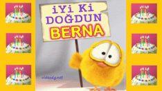 Doğum günün kutlu olsun BERNA