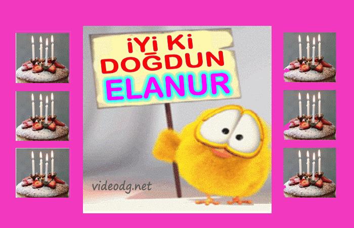 iyiki doğdun Elanur