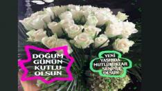 Beyaz Güllerle anlamlı doğum günü kutlaması