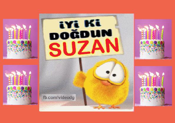iyiki doğdun Suzan