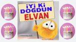 iyi ki doğdun ELVAN