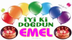 Doğum günün kutlu olsun EMEL