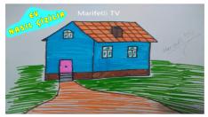 Basit Ev Çizimi, Kolay ev nasıl çizilir?