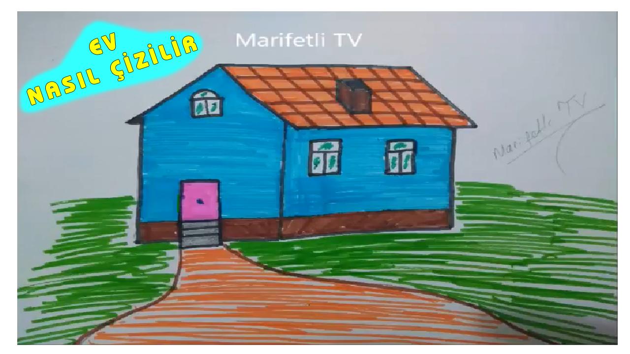 Basit Ev çizimi Kolay Ev Nasıl çizilir Videodgnet