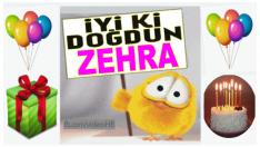 iyi ki doğdun ZEHRA