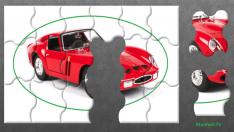 Kırmızı Araba Yapboz Gösterisi