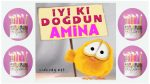 Amina ismine doğum günü mesajı