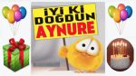 iyi ki doğdun Aynure !
