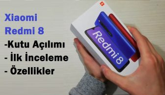 Xiaomi Redmi 8 Özellikler, Kutu Açılımı