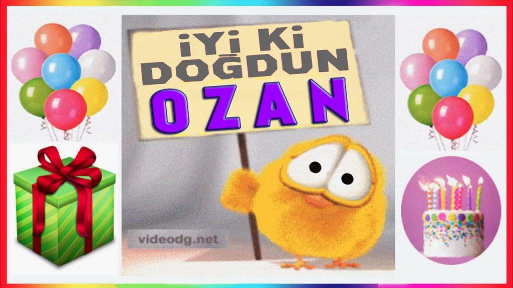 iyi ki doğdun Ozan