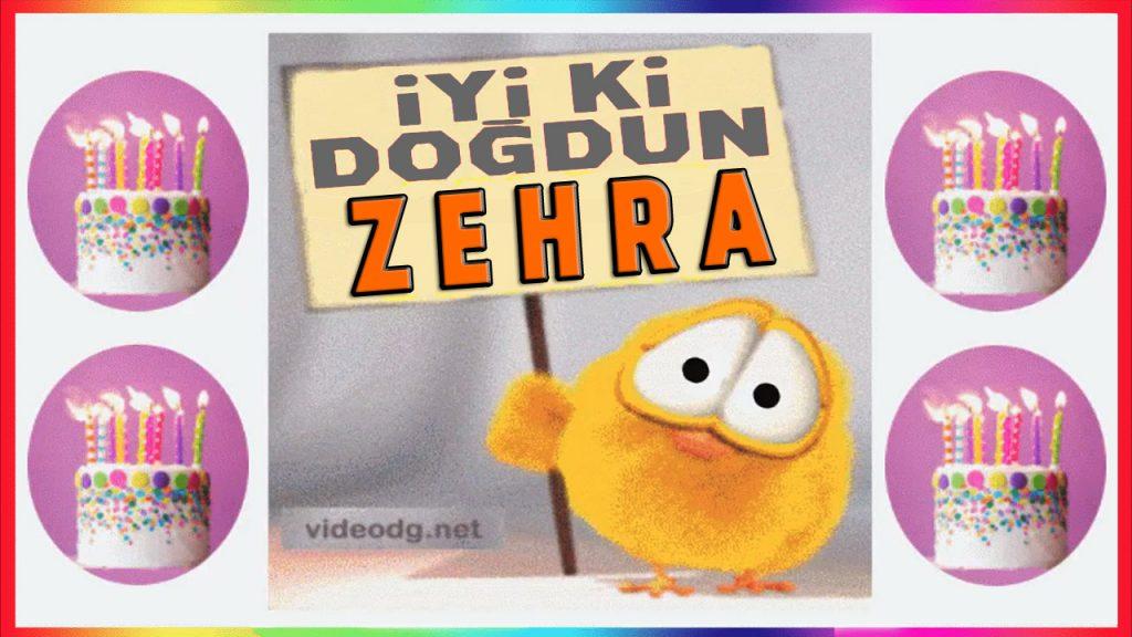 iyiki doğdun Zehra