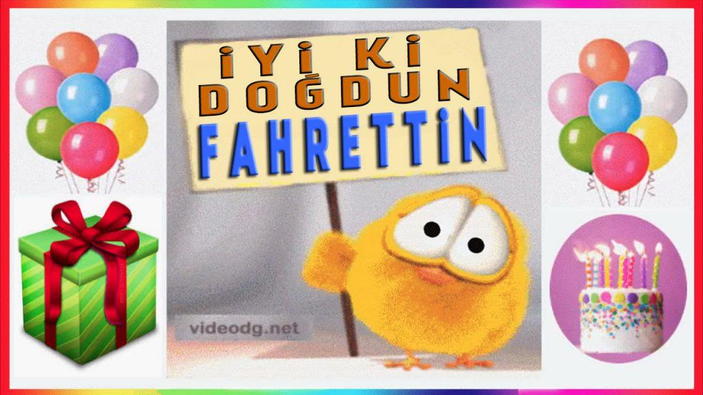 iyi ki doğdun Fahrettin