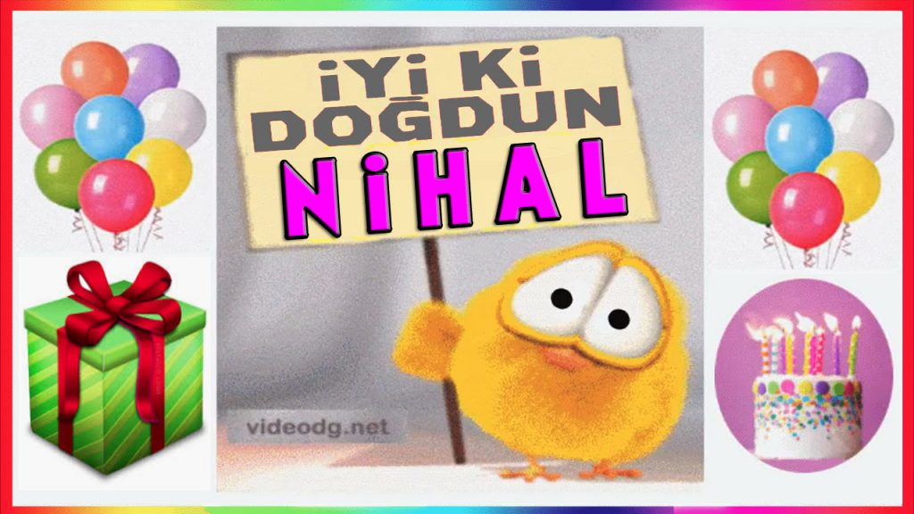 iyiki doğdun Nihal