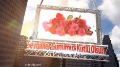 Kırmızı Güllerle Sevgililer Günü Kutlama