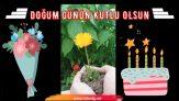 Çiçekli İlginç Doğum günü Mesajı