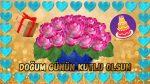 Çiçekli, kalpli Doğum Günü Mesajı